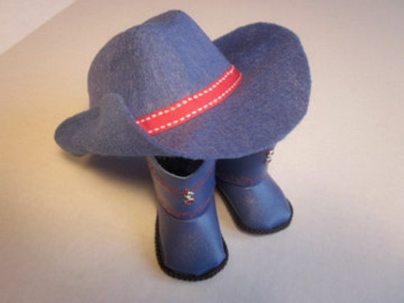 Blue Boots and Hat