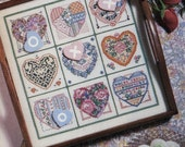 cross stitch patterns : february 1991 issue cross stitch & country crafts magazine valentine's day counted cross stitch patterns diy