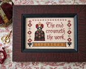 Queen's Sampler Elizabeth I : Plum Street Samplers counted cross stitch pattern hand embroidery Mother's Day mom
