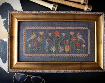 Colonial Garden + OPTIONAL Silk Threads : Plum Street Samplers Paulette Stewart counted cross stitch patterns embroidery