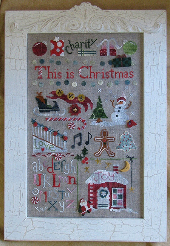 Cross Stitch Pattern This Is Christmas Raise The Roof
