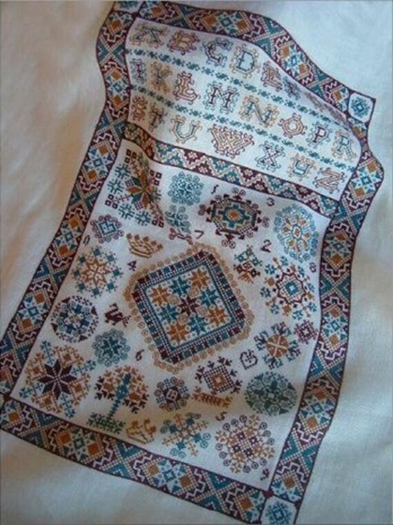 cross stitch pattern : Double Dutch Sampler Sampler Cove counted cross stitch CIJ
