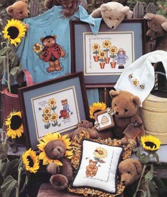 cross stitch pattern : Sunshine Garden Kathie Rueger counted cross stitch diy