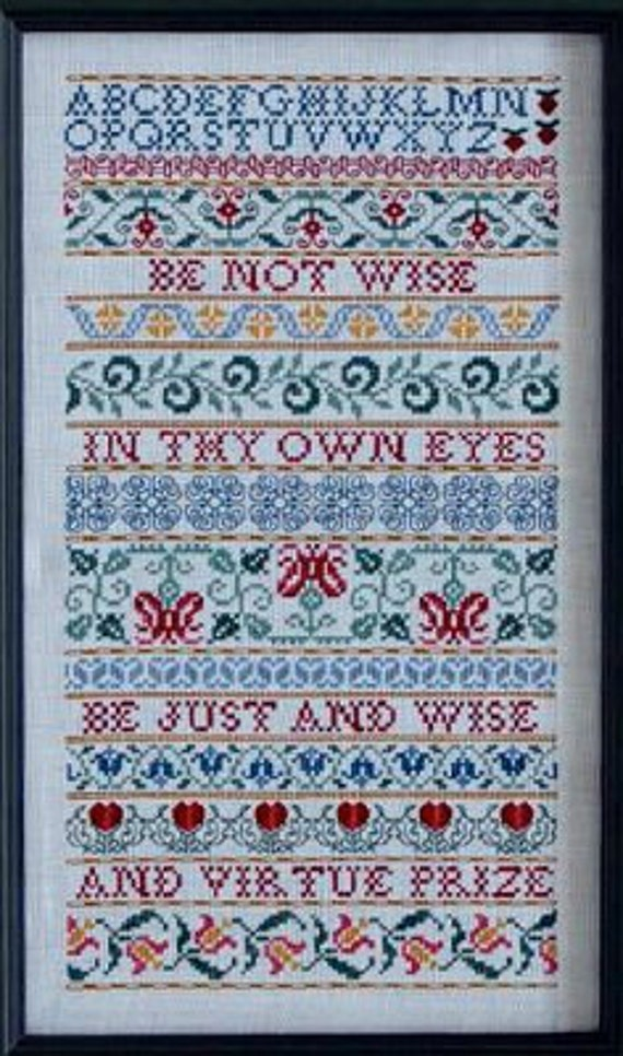BLACK FRIDAY SALE cross stitch pattern : Wise Sampler Cove counted cross stitchdiy