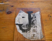 Antique barnwood sign 'J '