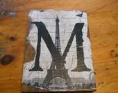 """on treasury list Antique barnwood sign 'M """""""