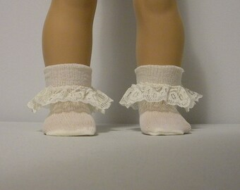 Fits 16 Inch Sasha  Doll ....Ivory Lace Trim Socks
