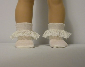 Fits 16 Inch Terri Lee  Doll ....Ivory Lace Trim Socks