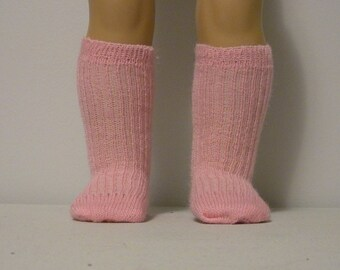 Fits 18 Inch American Girl  Doll .... Pink Ribbed Socks ... S4