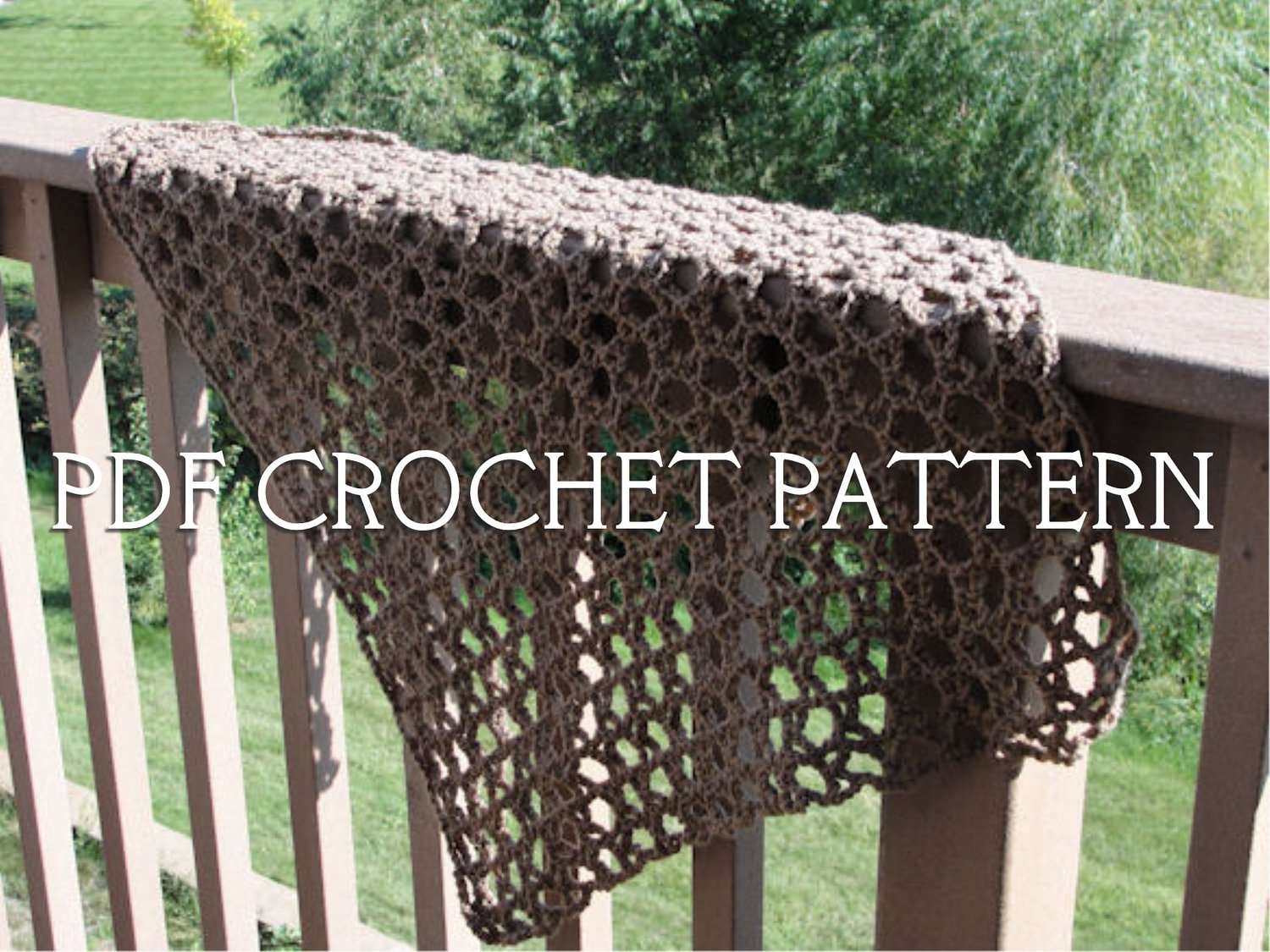 Crochet Pattern for Mermaid Fishing Net by crochetbyjennifer