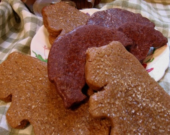 Gingerbread Bears and Cocoa Sugar Bear Cookies - Gift for Father, Party Cookies, Cub Scouts-Virginia Bear Cookie Combo