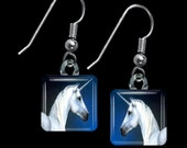 White Unicorn Earrings(ECuFF21.2)