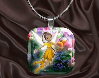 Fairy Glass Tile pendant (fairy5.5)