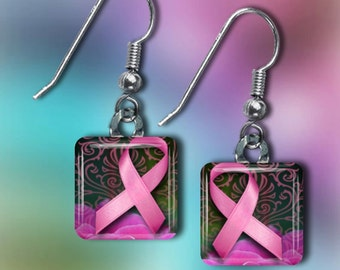 Breast Cancer Awareness Earrings(ECuBCR1.6)