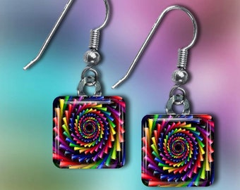 Rainbow Spiral Earrings(ECuRaR2.2)