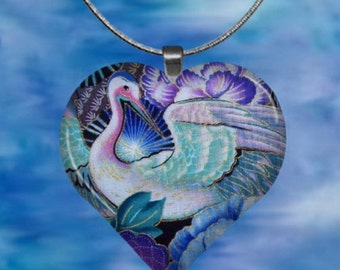 Asian Inspired Heart Pendant with chain(AsDe1.1)