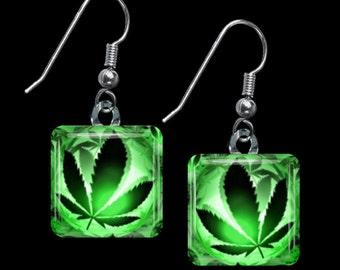 Cannabis Earrings (ECan2)