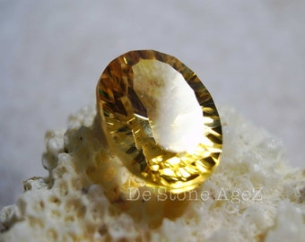 Yellow Concave Citrine - 5.08 Carats (Perfect Stone!)