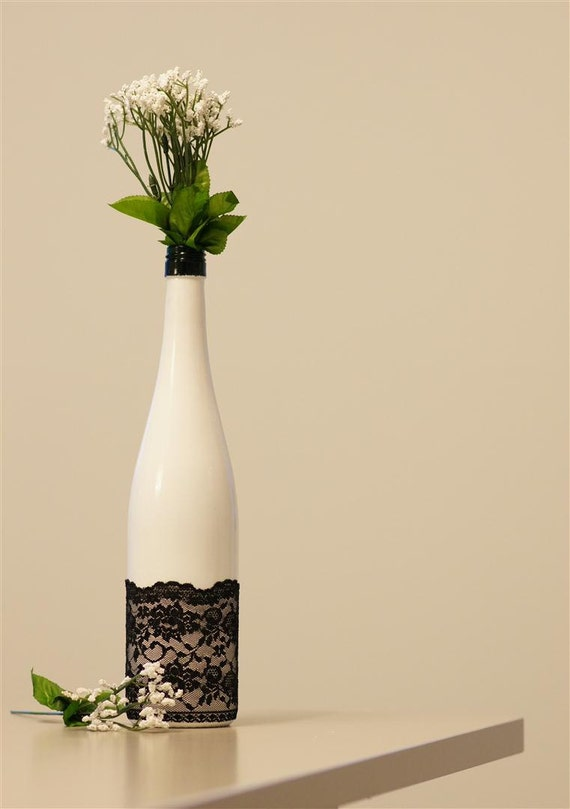 Sexy Lace - Upcycled Laced Glass Vase
