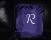 Custom Personalized Embroidered Monogrammed Cinch Sack Backpack Cheer Dance Gym Tote Bag Gymnastics School Bridesmaid Gift Girl or Boy