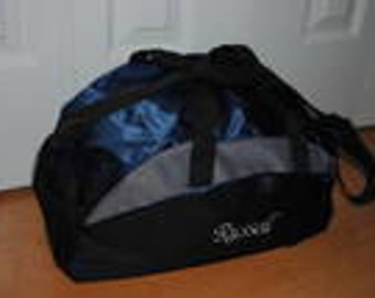 Personalized Monogrammed Duffel Bag Gym School Dance Tote Cheer Gymnastics Book Embroidered Large Bag Wedding Groomsmen