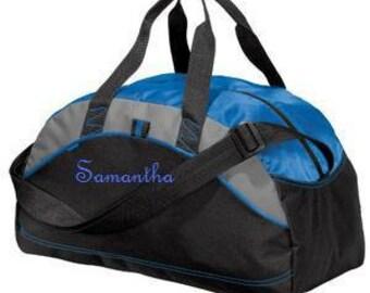Personalized Monogrammed Duffel Bag Gym School Teacher Cheer Dance Gymnastics Book Groomsmen Embroidered Medium/Smaller Bag Wedding