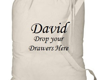 Custom Personalized Embroidered Laundry Bag Graduation Dorm College Tote School Girl or Boy
