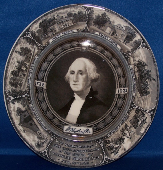 1932 Lamberton Scammell Washington Commemorative Plate