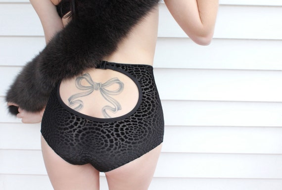 Love and Devotion keyhole high waisted knickers - LAST ONE