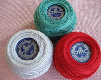 DMC Cebelia a cotton Thread, weight 20, mercerized,super quality imported from France.