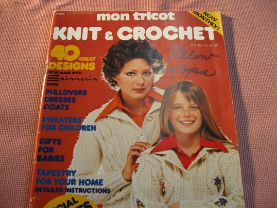 Mon Tricot, from 1975, Vintage, 40 great Designs from yesterday and today