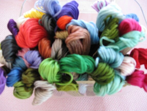 45 DMC Floss Import from France, 6 ply Cotton, asssorted Colors