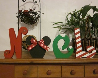 Christmas decoration wood letters Noel wood letters Christmas gift