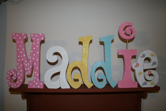 Items Similar To Personalized Wood Letters PIXIE BABY In