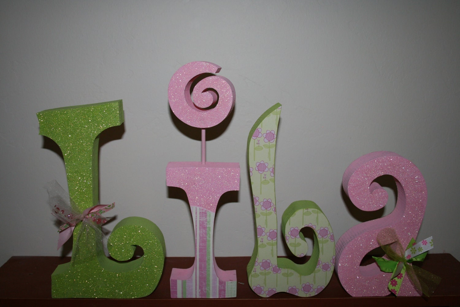 Custom Wood Letters Nursery Letters Girl By WoodenWondersShop