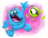 "Mike and Sully, 8"" x 10"" Print"