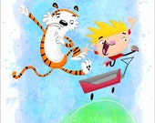 "Calvin and Hobbes, 8"" x 10"" Print"