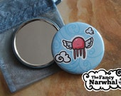 Jellyfish Flight Pocket Mirror
