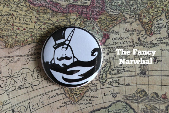 Narwhal Gentleman - Fancy Narwhal Pocket Mirror