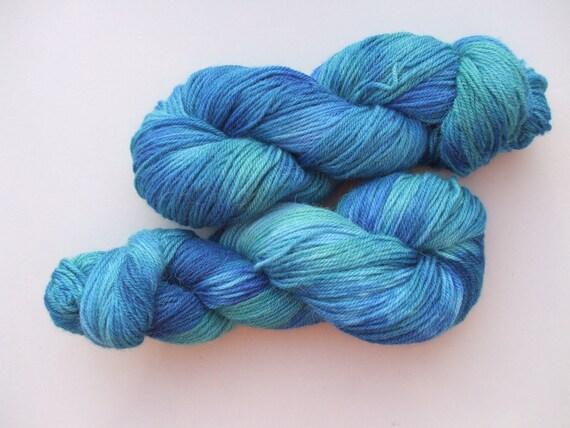 Organic Wool and Alpaca Double Knit. Antarctic Seas.