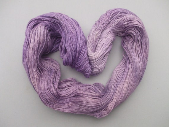 Total Indulgence Alpaca/Silk/Cashmere 4 ply Sock Yarn. Lilac Blossoms in Her Hair.