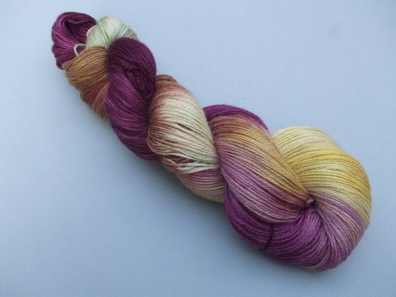 Total Indulgence Alpaca/Silk/Cashmere 4 ply Sock Yarn. Anna Fulford.