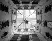 Fine Art Photography Print Black and White Italian skylight