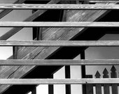 Fine Art Photography Print Black and White stairs and railings