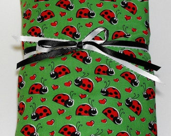 Crib or Toddler Bed Fitted Sheet Ladybugs Toddler Sheet Lady Bug Sheet CLEARANCE