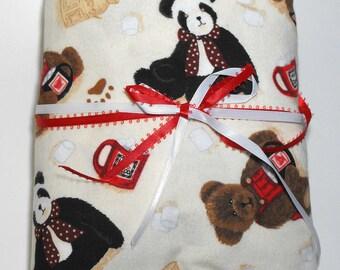 Flannel Baby Crib Fitted Sheet Teddy Bear Boyds Bears
