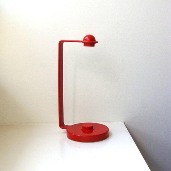 mod red plastic paper towel holder countertop 1970 39 s. Black Bedroom Furniture Sets. Home Design Ideas