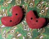 Happy Smiling Heart Plush Felt Pin