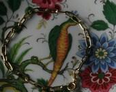 Lovely Oblong Link Vintage 14 kt Gold Bracelet
