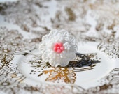 Shop Closing-Promise Bouquet Ring - White and Pink